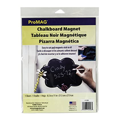 ProMag Chalkboard Magnet Sheet.030 by 11 by 8.5-Inch 1-Pack-