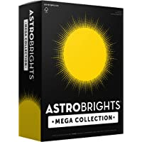 """Astrobrights Mega Collection, Colored Cardstock, Bright Yellow, 320 Sheets, 65 lb/176 gsm, 8.5"""" x 11"""" - MORE SHEETS…"""