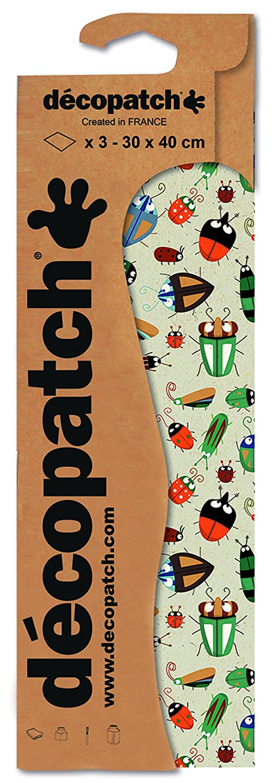 30 x 40 cm Pack 3 Sheets d/écopatch Beetles Paper