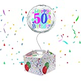 Happy 50th Birthday Balloon Delivered Inflated In A Box