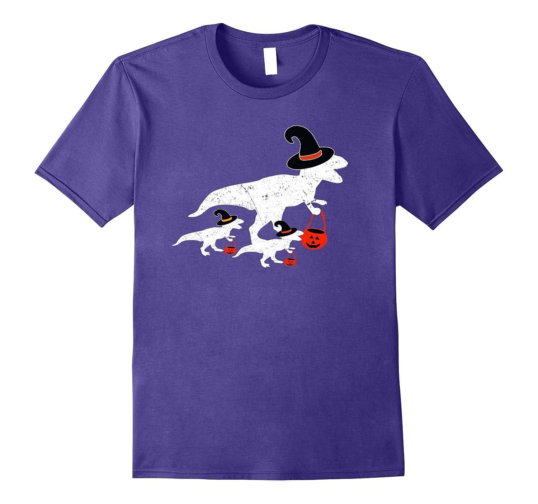Halloween Dinosaur T Rex Funny Trick T Shirt - Parent Shirt-FL