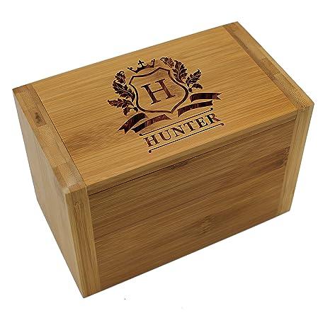 Amazon.com: Caja de recetas personalizada de madera 4 x 6 ...