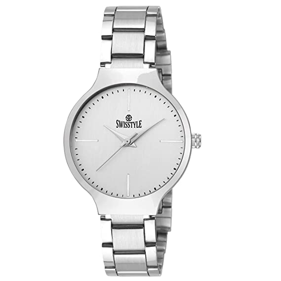 cfa346b0f5e Image Unavailable. Image not available for. Colour  SWISSTYLE Analogue  white Dial Women Watch ...