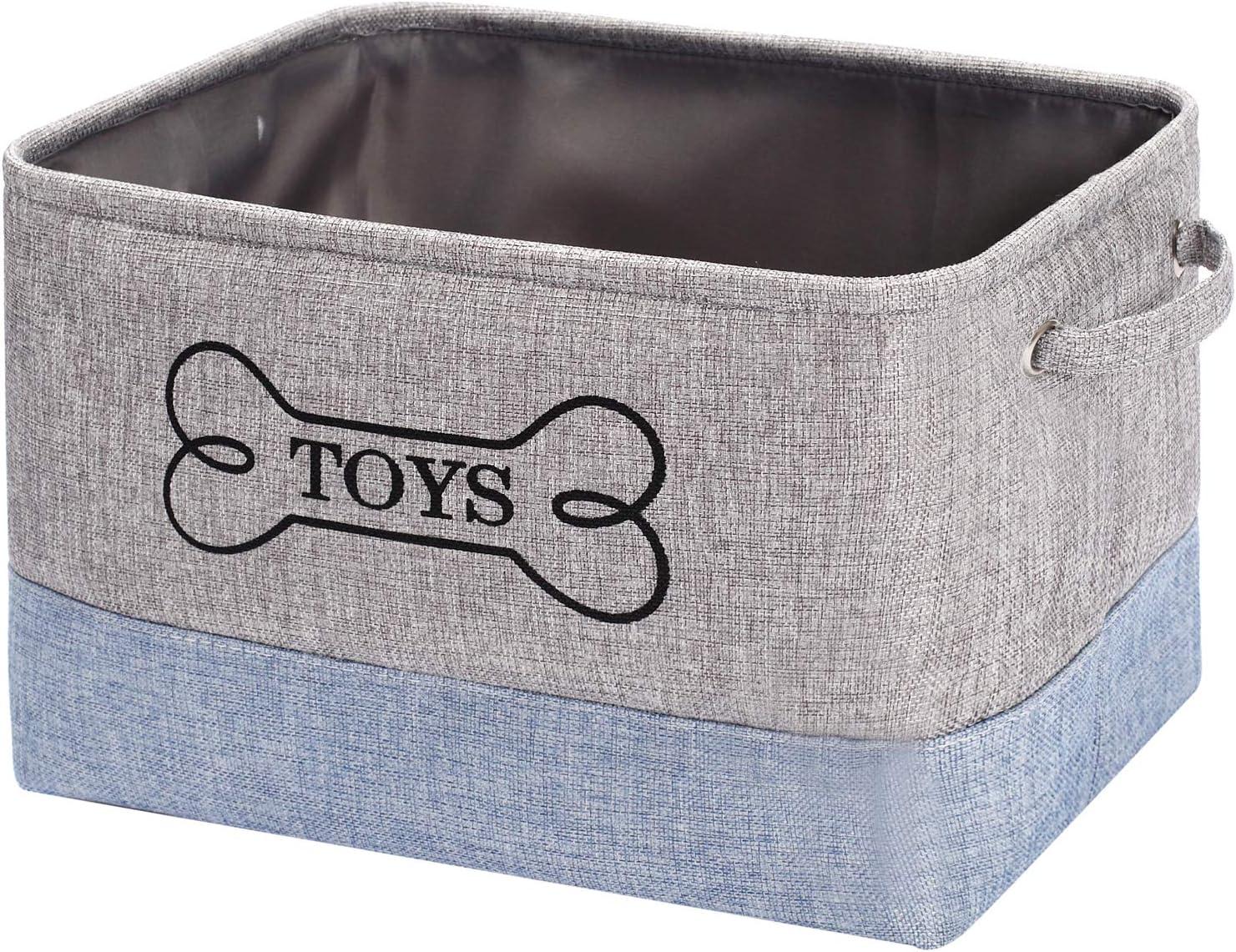Cestas de almacenamiento para juguetes de perro ropa y libros con asa exterior organizador de almacenamiento para clasificar juguetes Geyecete