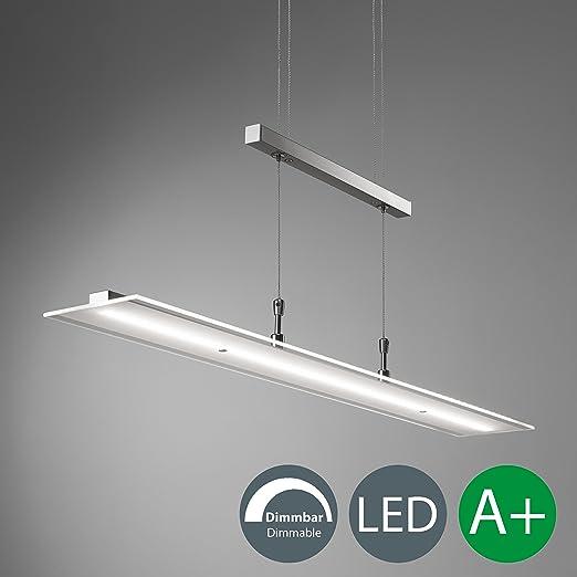 Lámpara colgante metal y cristal auténtico LED 20W 230V, Altura ajustable: 900 - 1750 mm, IP20