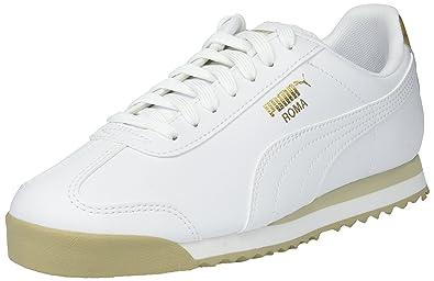 95826d3ab60 PUMA Roma Basic HollaB Kids Sneaker White Team Gold-Safari