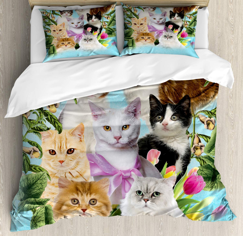 ABAKUHAUS Amante de los Gatos Funda Nórdica, Gatos felinos ...