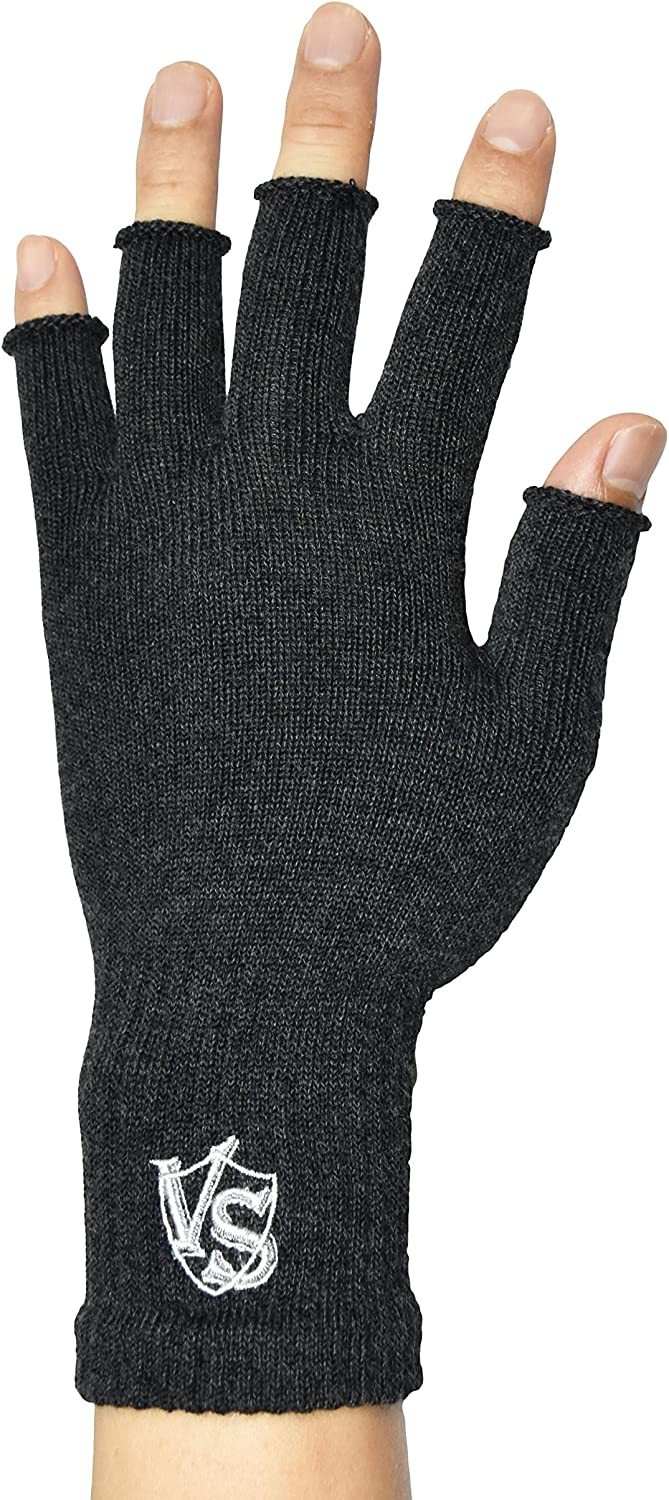 Vital Salveo - Stretchy Unisex Half Finger Texting Circulation Fingerless Recovery Gloves (Pair)