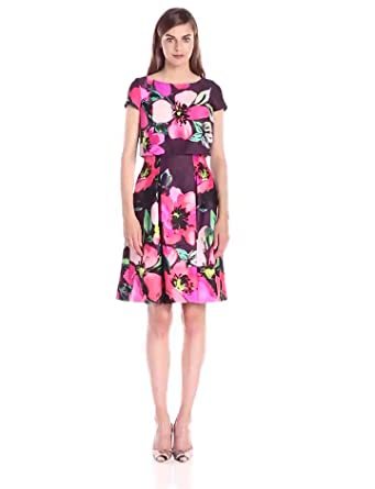 Vince Camuto Women S Short Sleeve Floral Printed Popover