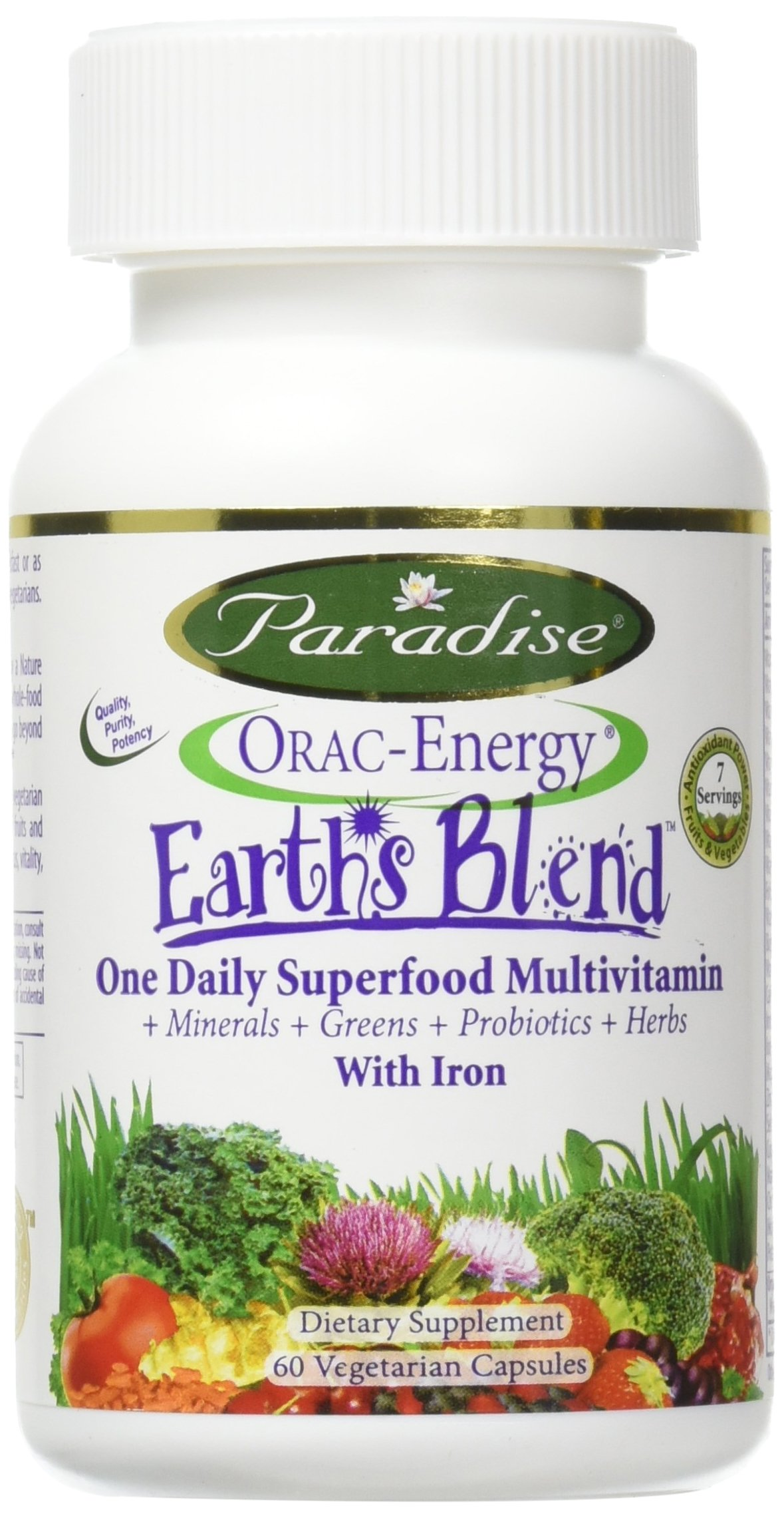 Cheapest amazon herbs - Paradise Herbs Orac Energy Multi One With Iron 60 Count