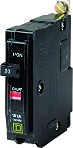 Square D by Schneider Electric QOB120CP 20-Amp Single-Pole Bolt-On Circuit Breaker