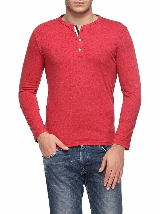 TSX Men's Cotton Henley T Shirt T Shirts   Polos