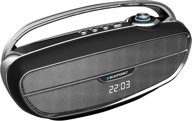 Blaupunkt BLP3360.133 Altavoz Portatil Bluetooth Radio Retro, Subwoofer Activo, 20W, FM, Micro SD, FM, USB, AUX, Manos Libres