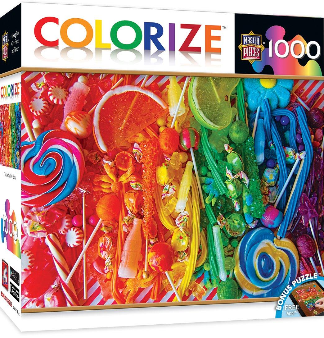 MasterPieces Chefs-d' œuvre Colourize goût The Rainbow–Candy Collage 1000pièces Puzzle Masterpieces Puzzle Co. 71613