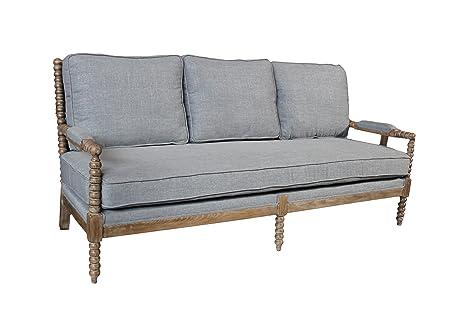 Moti Furniture Linen Sofa, Grey