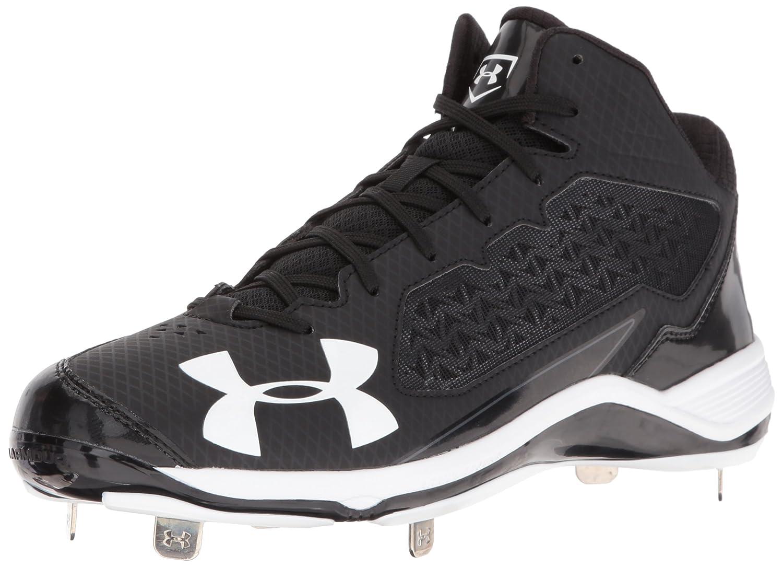 Under Armour Men's Ignite Mid ST Baseball Shoe, Black 1278717