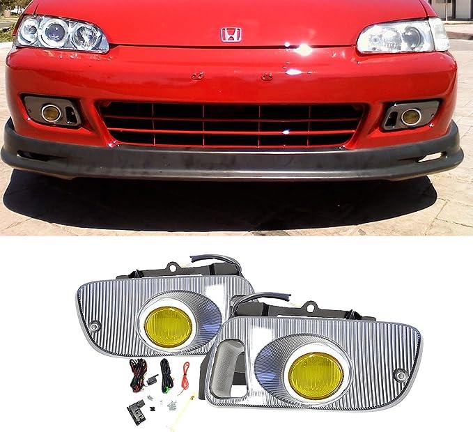 92 93 94 95 HONDA CIVIC 2//3DR JDM BUMPER PROJECTOR FOG LIGHT LAMP+SWITCH+HARNESS