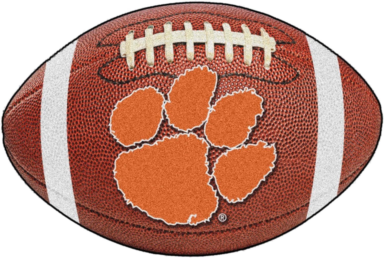 FANMATS NCAA Clemson University Tigers Nylon Face 4X6 Plush Rug