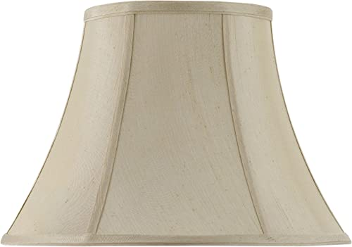 Cal Lighting SH-8104 14-CM Vertical Piped Basic Bell Shade with 14-Inch Bottom, Cream