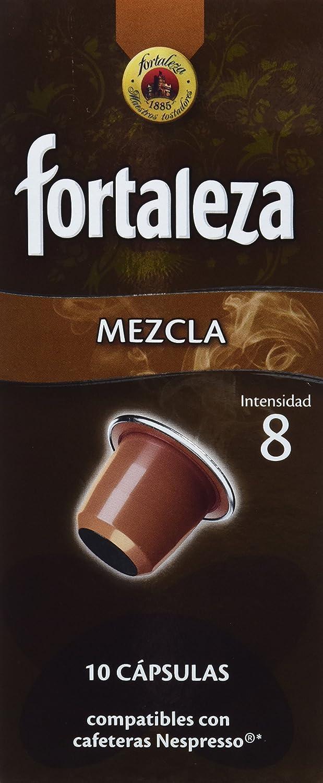 Nespresso compatible - Café Fortaleza Mezcla - 10 cápsulas - [Pack ...