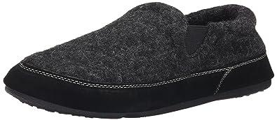 Acorn Men's Fave Gore Slipper, Black Tweed, Small/7.5-8.5 D(