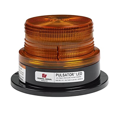 Federal Signal 212672-02SB Class 2 Pulsator 451 LED Beacon, Magnetic Mount with Cigarette Plug, Short Dome, Amber: Automotive