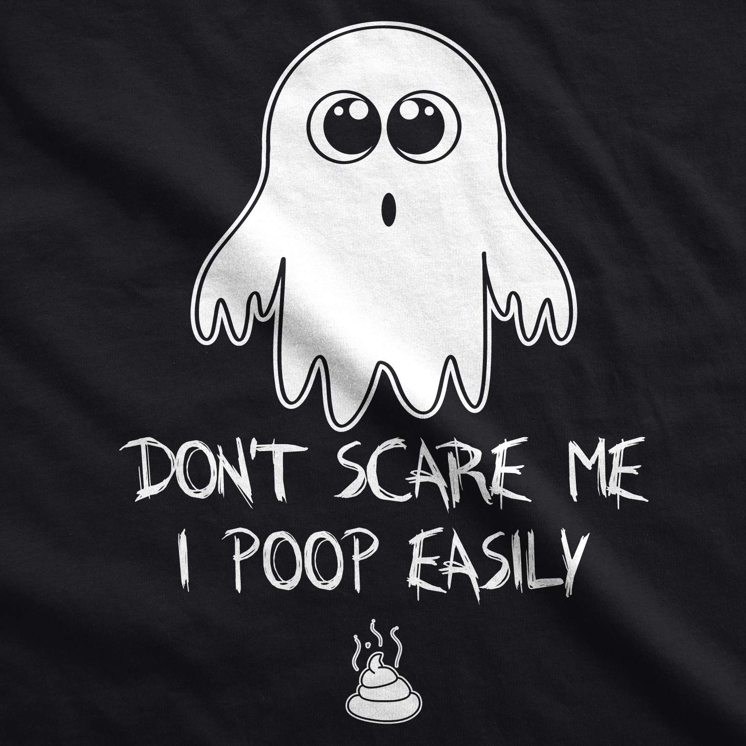 Dont Scare Me I Poop Easily Funny Ghost Baby Creeper Bodysuit Baby-Jungen Crazy Dog Tshirts