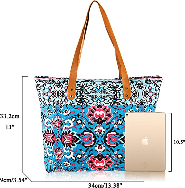 bad263d8ca6c83 Canvas Tote Bag Utility Teacher Tote Bag Handbag Shoulder Bag for  School,Office,Travel,Beach,Overnight