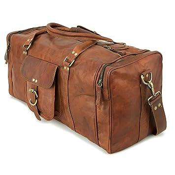 Sac de Voyage BERLINER BAGS Texas L Sac de sport spacieux Sac de week-end loisir Sac à main en cuir véritable Femme Hommes Vintage Design Marron Large L 55 cm 35 litres EJwIDTDy