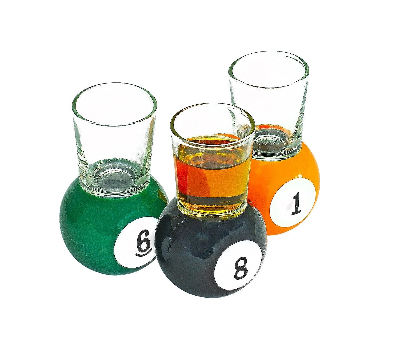 Bastante ODD Novelties Billar Vasos de chupito, 6,25 x 6,25 x 3.38 cm: Amazon.es: Hogar