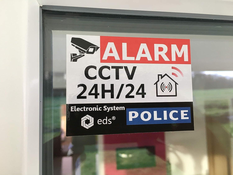 tienda garaje sol y agua y calidad profesional. Juego de 8 pegatinas para sistema de alarma CCTV con alarma antirrobo para casa edificio
