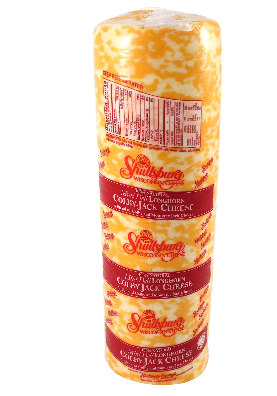 Shullsburg Creamery - Colby Jack Cheese - 6# Mini Deli Horn