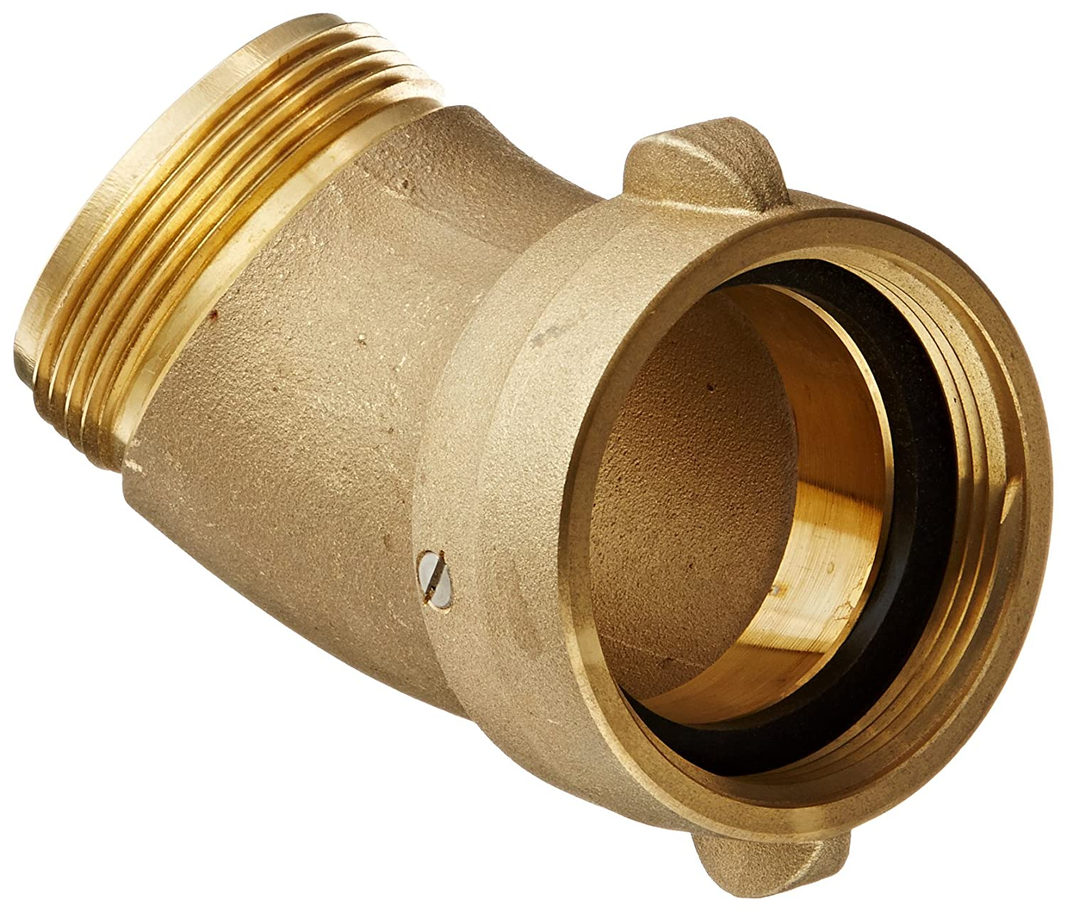 Male NH NH Dixon Valve HA4525F Brass Fire Equipment 4-1//2 NST Female x 2-1//2 NST Hydrant Adapter with Pin Lug