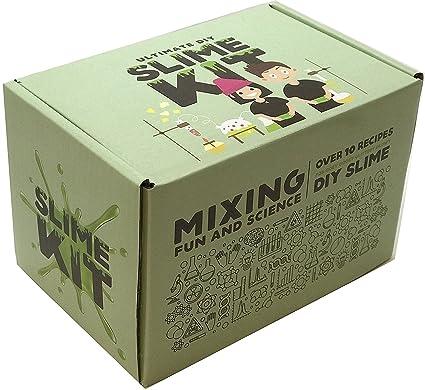 Amazon.com: Ultimate Slime Kit -DIY- Make Glow-In-The Dark, Color ...