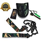 Sportsman Camouflage Pocket Chainsaw 36 Inch Long Chain & FREE Fire Starter. Best Folding Hand Saw Tool for Survival Gear, Camping, Hunting, Tree Cutting or Emergency Kit. Replaces a Pruner & Pole Saw