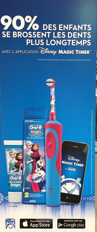 Kit completo de dientes Oral B-Brosse Stages Power niños de La reina de las nieves-Cepillo de dientes eléctrico de dientes Oral B de La reina de las nieves ...