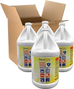 MustGo Odor Eliminator Fabric Spray - Controls and Prevents Damp, Musty, Mildew Odors - Unscented - 4 x 1 Gallon Case