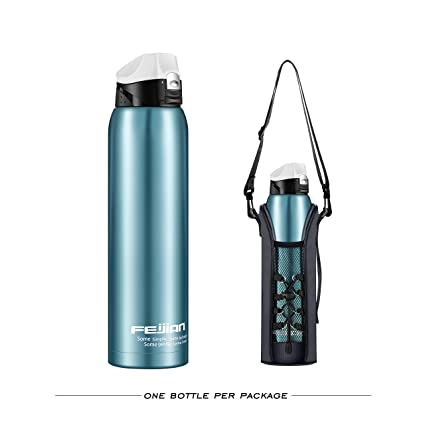 8c815edd0f FEIJIAN Stainless Steel Insulated Water Bottle - 36 OZ (2018 Double Walled  Vacuum Insulated 1