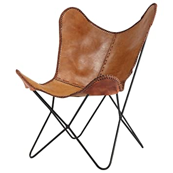 KKu0027s Leather Couches Brown Leather Chair Aram Chair Butterfly Letaher Chair  Home Decor Vintage Leather Chair