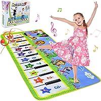 NEWSTYLE Barn pianomatta, musik dansmatta för småbarn, tangentbord musikmatta matta pedagogiska leksaker för småbarn…