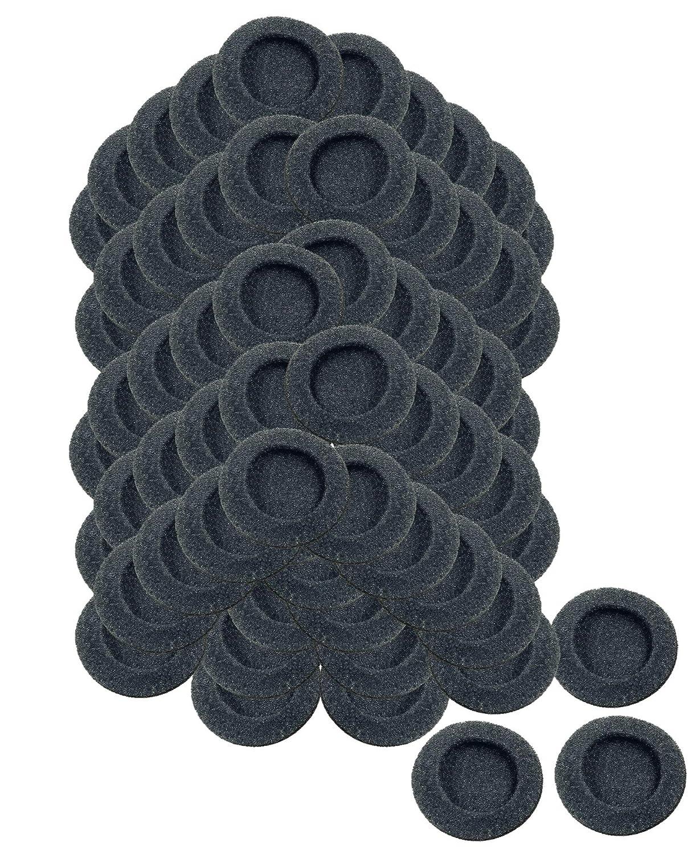 "50mm / 2"" Foam Earphone Ear Pad Earpad Headphone Covers, 72 pack / 36 Pairs"