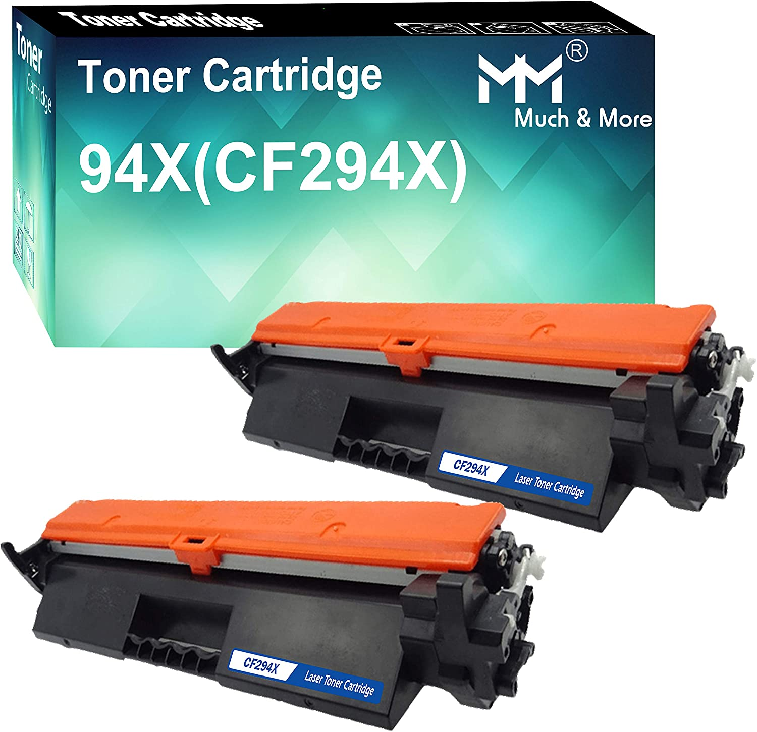 2-Pack (2X Black) Compatible CF294X 294X Toner Cartridge 94X High Yield Used for HP M118DW MFP M148DW 148FDW M149FDW M149FDW Printer, by MuchMore