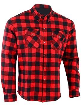 precios de liquidación duradero en uso en stock Bikers Gear Australia limitada motocicleta aramida Kevlar Lined – Camisa de  franela, color rojo/negro, tamaño large