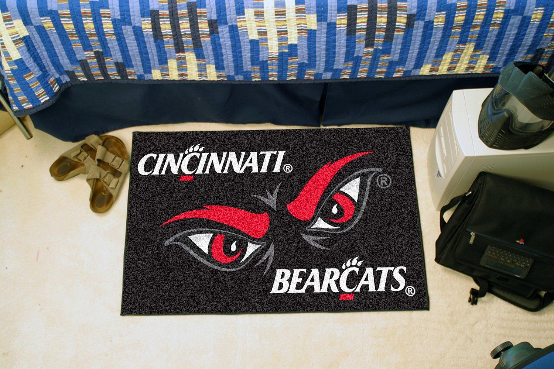 FANMATS NCAA University of Cincinnati Bearcats Nylon Face Starter Rug