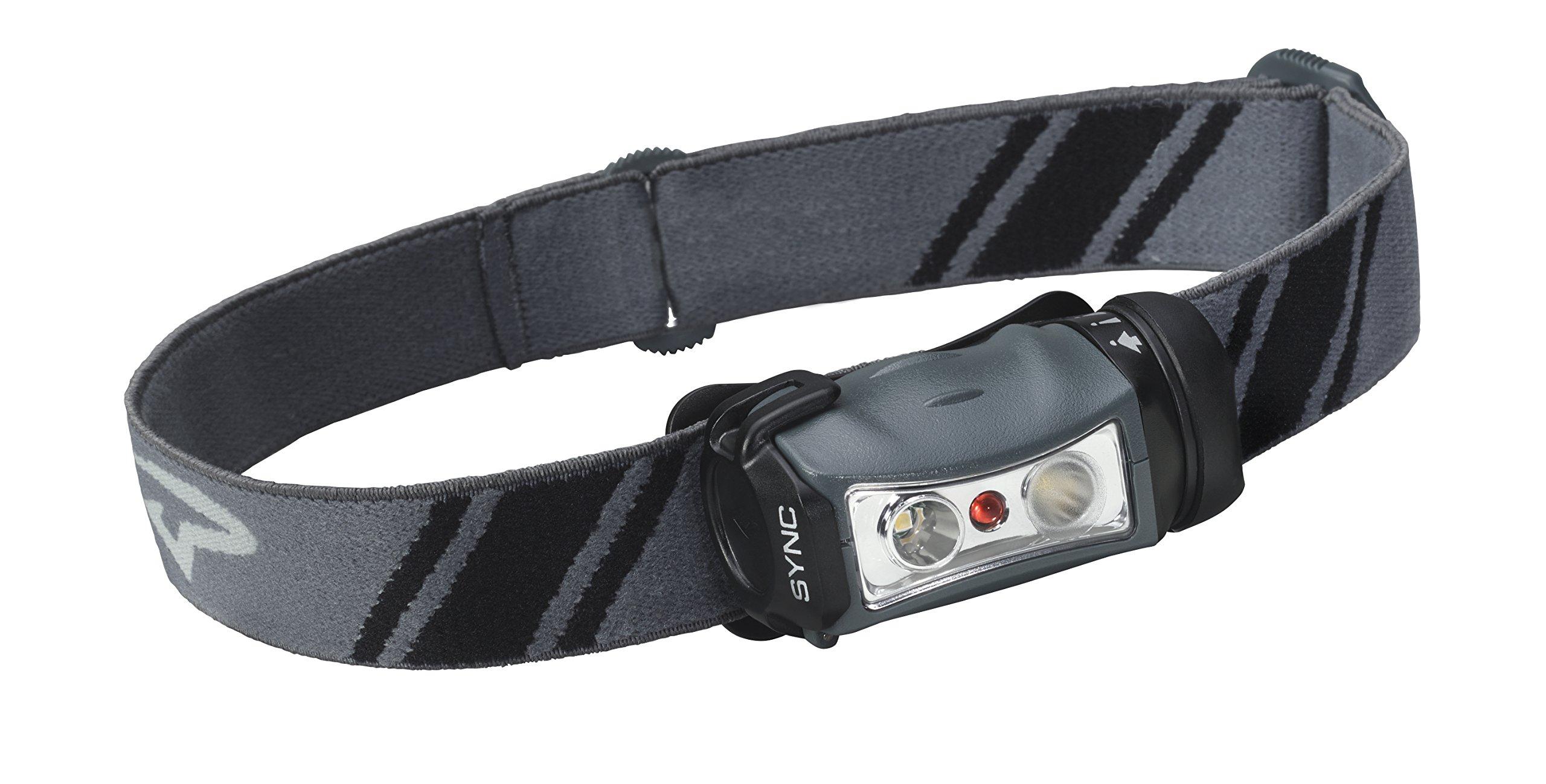Princeton Tec Sync LED Headlamp (150 Lumens, Gray/Black) by Princeton Tec