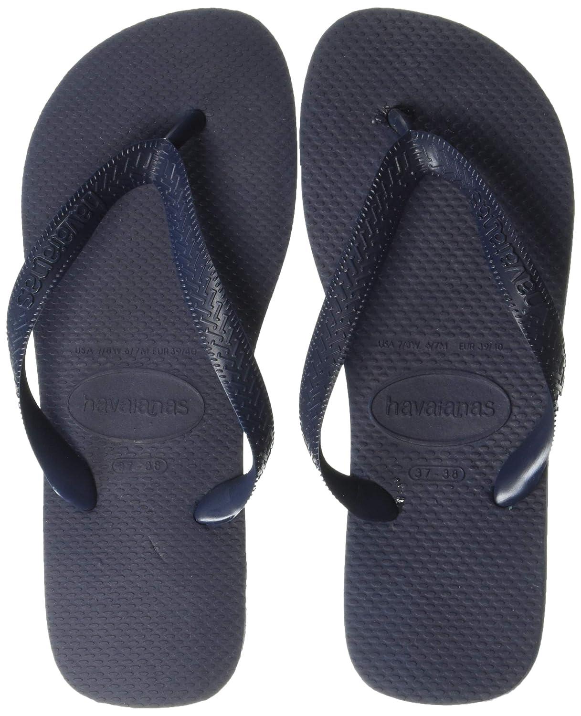 43-44 Havaianas Top Unisex Black Synthetic Flip Flops