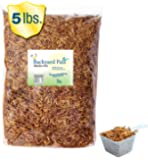 Backyard Pals Mealworms Bulk Dried Mealworms with Scoop, 5 lbs