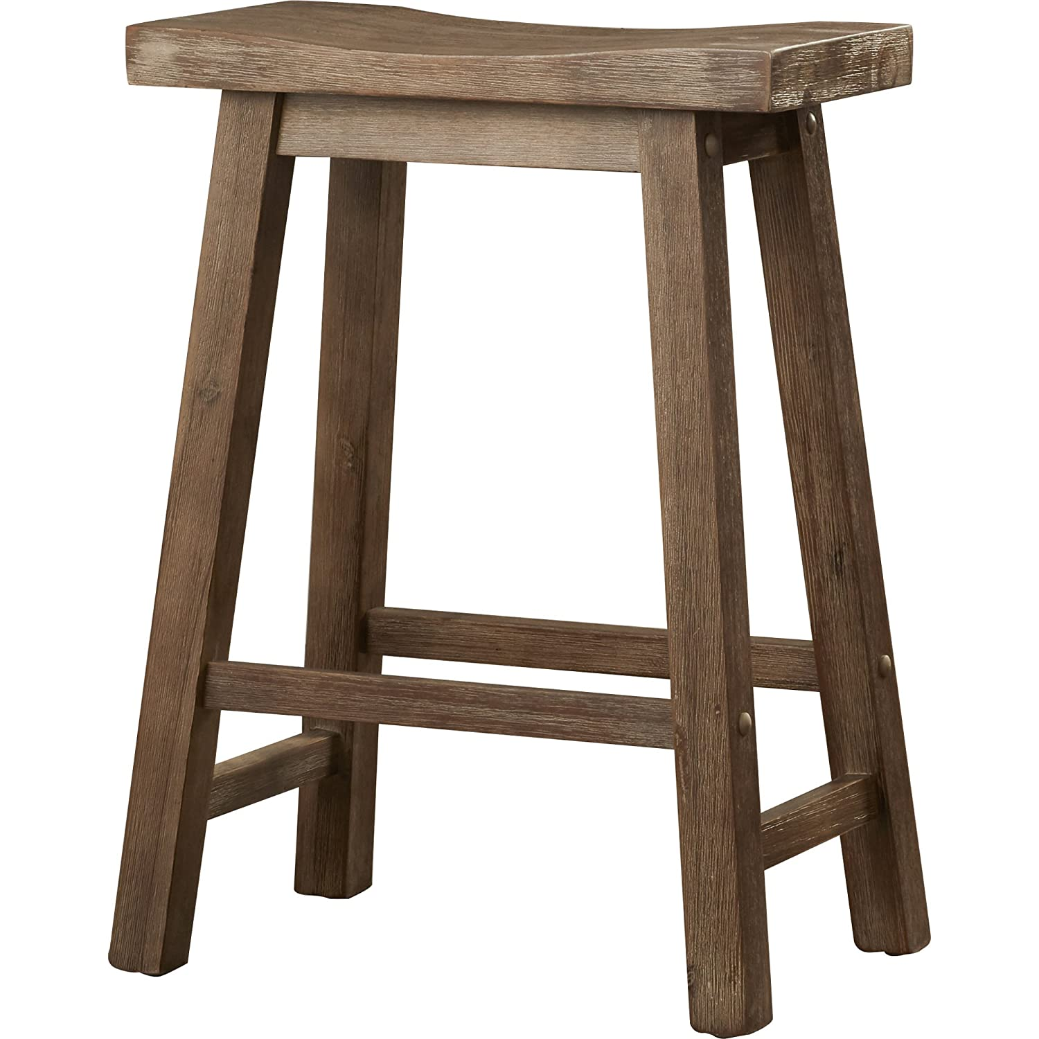 Amazon Rustic Bar Stool 24 inches Contemporary Weathered