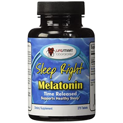 Sleep Right Melatonin 5 mg, 275 pills Time Released