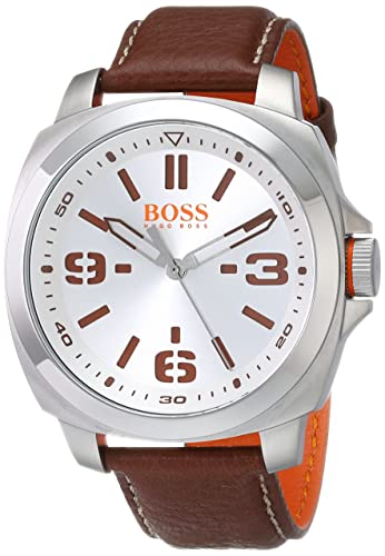 BOSS Orange Men s 1513097 BRISBANE Analog Display Quartz Brown Watch